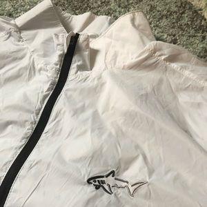 Greg Norman White Large Men's Windbreaker Vest